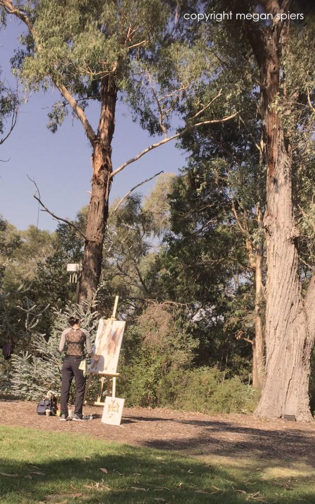 Megan Spiers acrylic demo Canberra Earth Festival