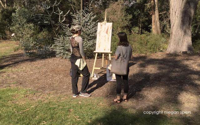 Megan Spiers acrylic demo